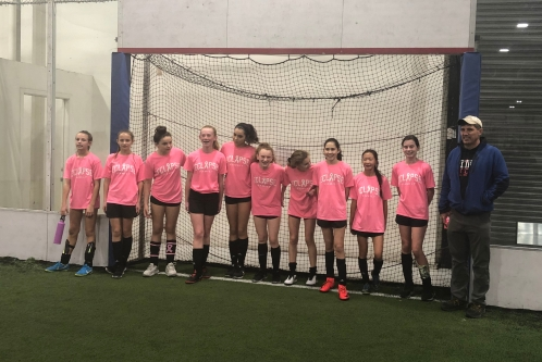 5995846c8 A combination of girls from our three 2006 Girls teams came together for a  winter indoor team at East Bay Sports in San Ramon.